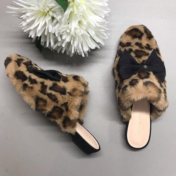 Kate Spade Leopard Flats Jocelyn Faux